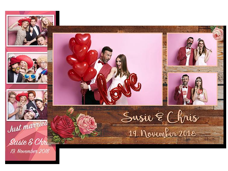 Collagen Ausdruck PicMeBox Fotobox Hochzeit