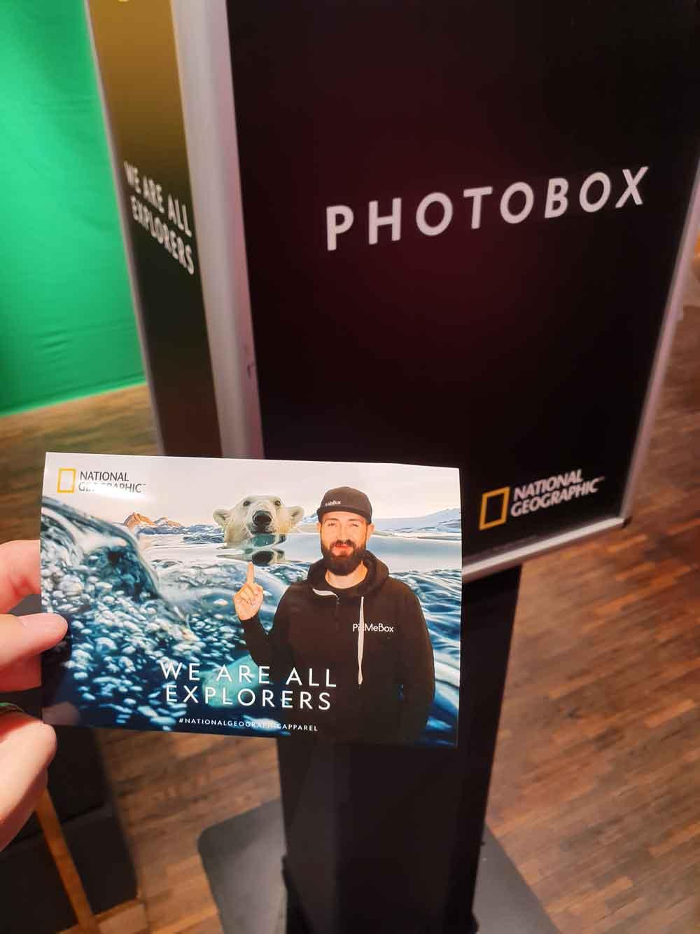 Fotobox mit Greenscreen für National Geographic